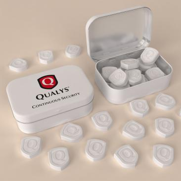 Shield shaped embossed mints